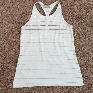 Athleta high neck mesh chi tank size M